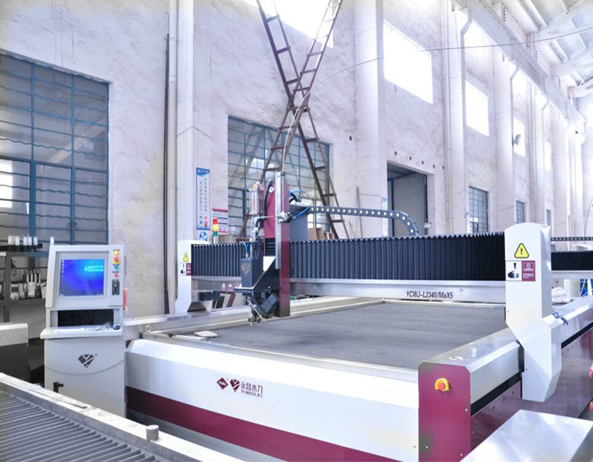 3D 5 axis metal waterjet cutting machine from China